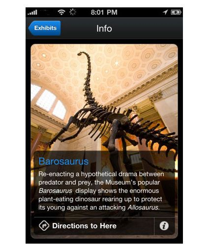 Audio guides for iPhone - museum