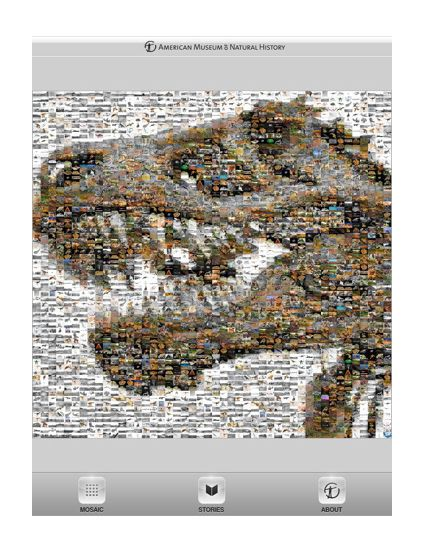Audio guides for iPad - mosaic of images