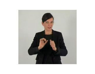 sign language interpreter for audioguide - women