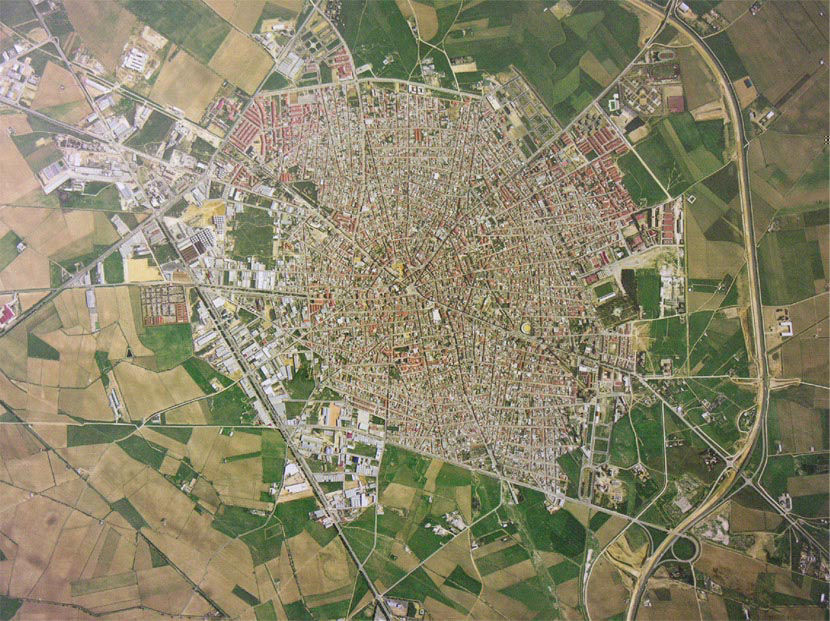 Visit to Tomelloso - Aerial view