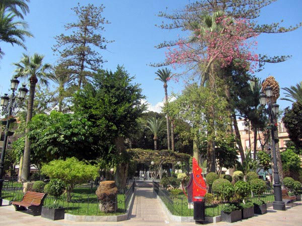 Audioguide of Aguilas - Garden of the  Square of Spain