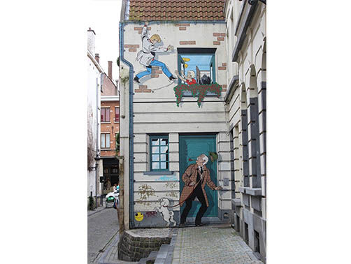 Audioguide of Brussels - comic strip trail (audioguides, audiotour)